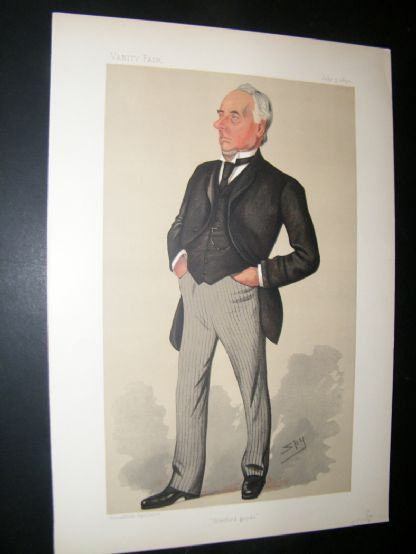Vanity Fair Print 1890 Henry Mitchell, Businessman | Albion Prints